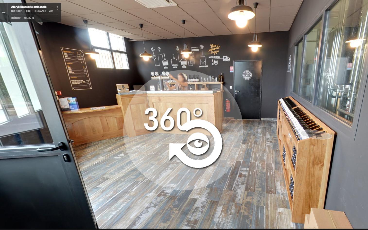 Visite virtuelle : La brasserie Alaryk à 360°