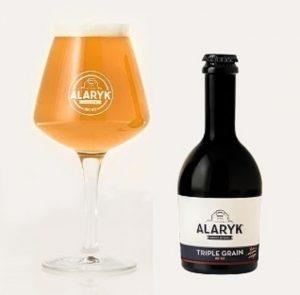 Bière Alaryk artisanale bio, triple grain.