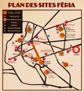 Plan des sites féria