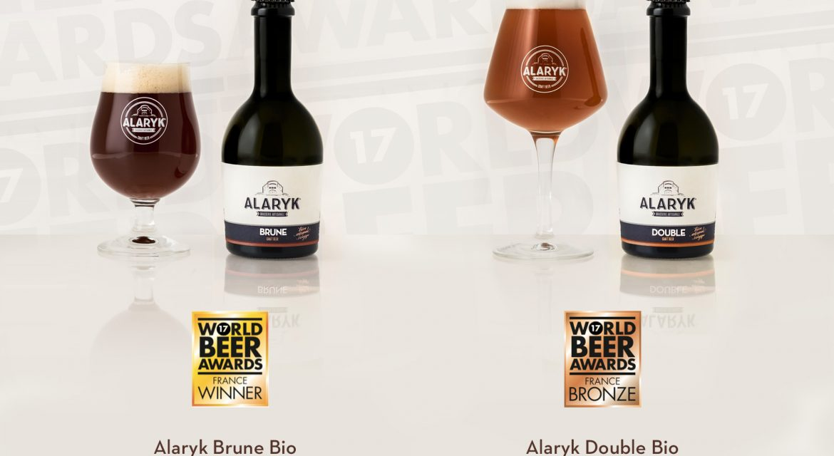 Bières Alaryk Brune et Double gagnantes - World Beer Awards France Winner