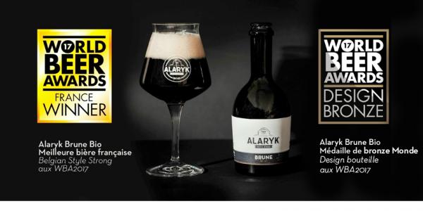 L'Alaryk Brune Bio, aussi belle que bonne pour les World Beer Awards 2017 !