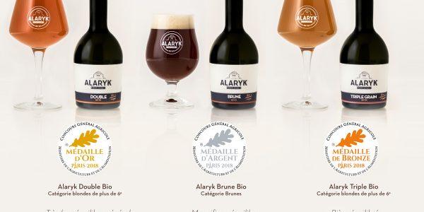 Or, argent, Bronze : Les bières Alaryk primées au Concours général agricole de Paris